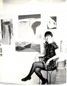 Writer and artist Diana Chang in her New York City apartment, undated