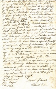 Josiah Hand Collection. Document created in Southampton, New York, 1798.