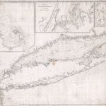 Nautical chart of Long Island, 1860, by Charles Copley.