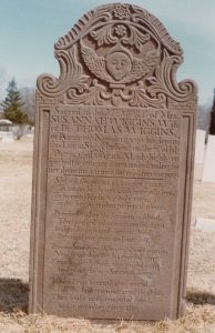 Wiggins, Susannah, 7 July 1791, Sterling Cemetery, Greenport, NY. Image 10 from the Richard F. Welch Collection.
