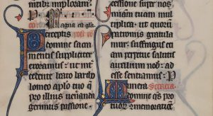 "Leaf 15: ""Missal: Missale Bellovacense."" Latin, 13th century. Otto F. Ege: Fifty Original Leaves from Medieval Manuscripts."