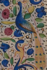 """Detail, Vellum Leaf (47). From Otto F. Ege's """"Fifty Original Leaves from Medieval Manuscripts, Western Europe, XII-XVI Century."""""""
