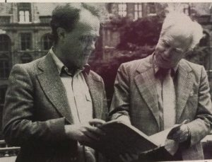 Image of Charles Rosen with friend