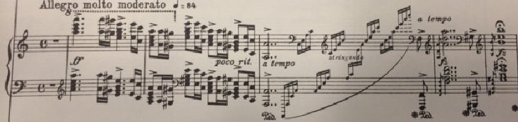 opening notes on a score -- wider