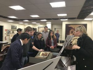 History Club visits Special Collections on November 28, 2018.