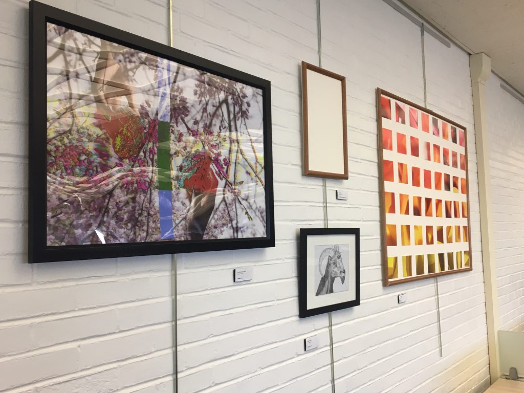 Student Art Show, North Reading Room, Melville Library