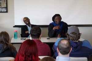 Whitman's Poetic Legacy, April 2, 2019: Rowan Ricardo Phillips (left) and Cornelius Eady (right)